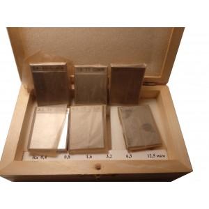 Образец шероховатости поверхности (сравнения) ОШС-ДС 0,2...25 ГОСТ 9378-93 - алюминий