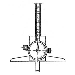 Штангенглубиномер стрелочный индикаторный  ШГК 200мм. 0.01