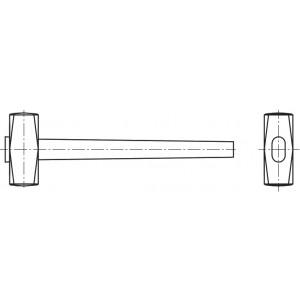 Кувалда с рукояткой 1 кг. 40Х Медь М30-50
