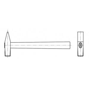 Молоток  с квадратным бойком А-0,1 кг. 40Х Медь М30-50