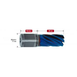 Корончатое сверло BLUE-LINE d=12mm Weldon 19 mm (3/4') р.ч. 30 мм 20.1312-012