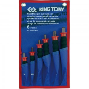 KING TONY Набор выколоток с протектором, чехол из теторона, 6 предметов
