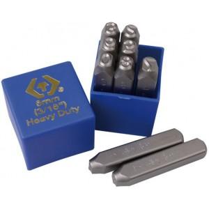 KING TONY Набор ударных клейм 8 мм, цифры, 9 предметов