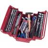 KING TONY Набор инструментов универсальный, раскладной ящик, 103 предмета