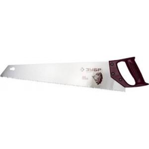 """Ножовка ЗУБР """"ЭКСПЕРТ"""" по дереву, прямой закаленный зуб, пластмассовая ручка, шаг зуба 3,5мм, 500мм"""