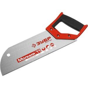 Ножовка для фанеры (пила) ЗУБР 325 мм, 11 TPI, прямой мелкий зуб, для запила внутри заготовки, импульсная закалка каждого зуба