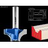 Фреза пазовая фасонная №1, D= 31,8мм, рабочая длина-16мм, радиус-9,5мм, хв.-8 мм, ЗУБР Профессионал