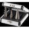 Набор ЗУБР ступенчатых сверл по сталям и цвет. мет. ст. Р6М5, d=3-14мм, 12ступ. d=4-12мм 5 ступ., d=6-20мм 14ступ.