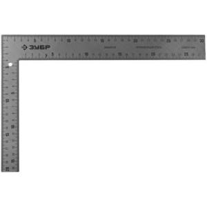 """Угольник ЗУБР """"ЭКСПЕРТ"""" плотницкий цельнометаллический, гравированная шкала (шаг 1мм), 300х200мм"""