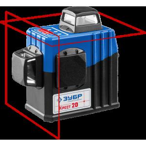 ЗУБР КРЕСТ 2D нивелир лазерный 2х360°, 20м/70м, точн. +/-0,3 мм/м