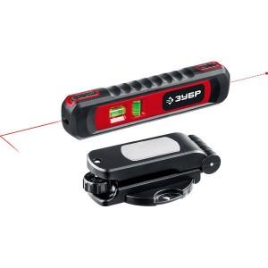 ЗУБР ТЛ-8  уровень лазерный, 8 м, точка + линия,  точн. +/-0,4 мм/м, подставка-штатив